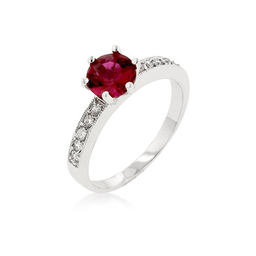 Petite GARNET Red Engagement Ring (Size: 09)