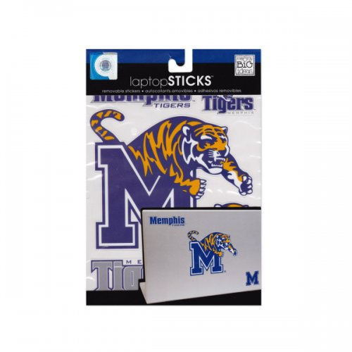 memphis tigers removable laptop stickers