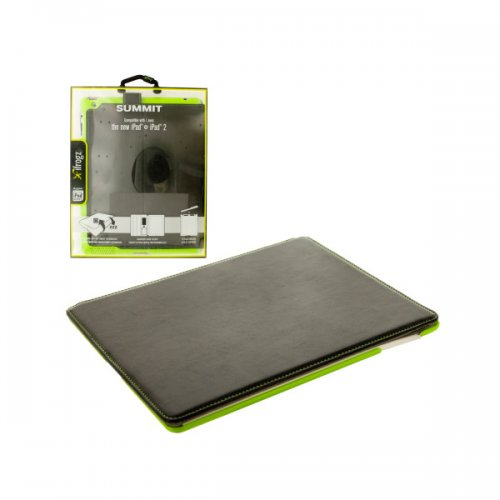 Black and Green ifrogz iPad Snap-In Folio Case