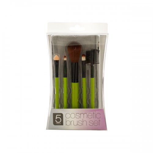 COSMETIC Brush Set with Mesh Zipper Case