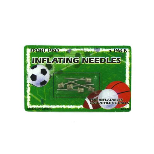 Sports ball inflating needles