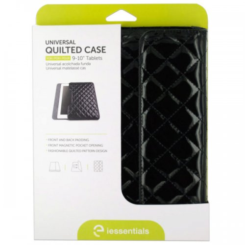 iessentials Universal Black Quilted Tablet Case
