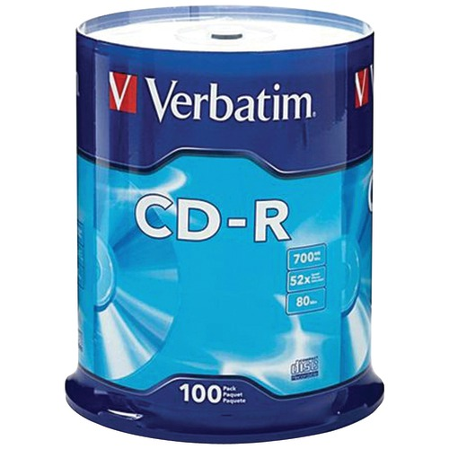 Verbatim 700mb 80-minute 52x CD-rs (100-ct Spindle)