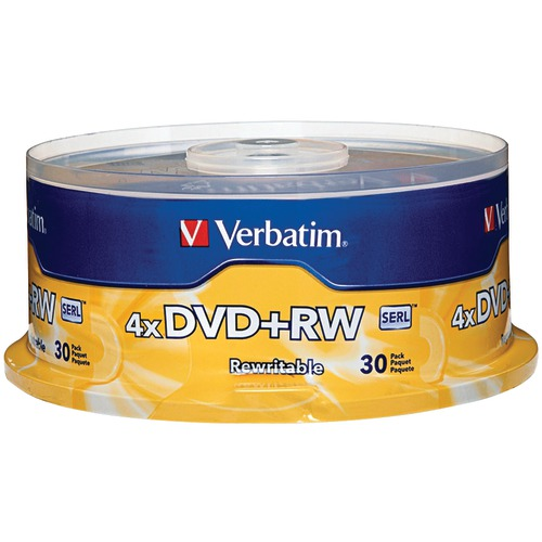 Verbatim 4.7gb 4x DVD+rws, 30-ct Spindle