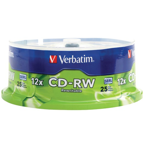 Verbatim 700mb 80-minute 4x-12x High-speed CD-rws, 25-ct Spindle