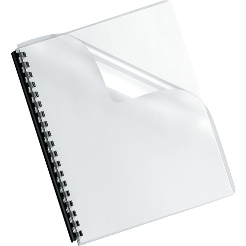 Fellowes Crystals Transparent Pvc Binding Cover, Oversized, 100pk