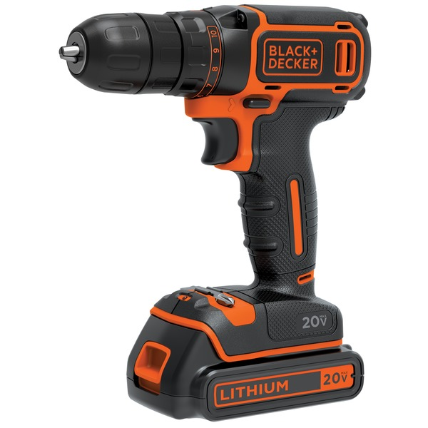 Black+decker 20-volt Max* Lithium Single-speed DRILL and driver